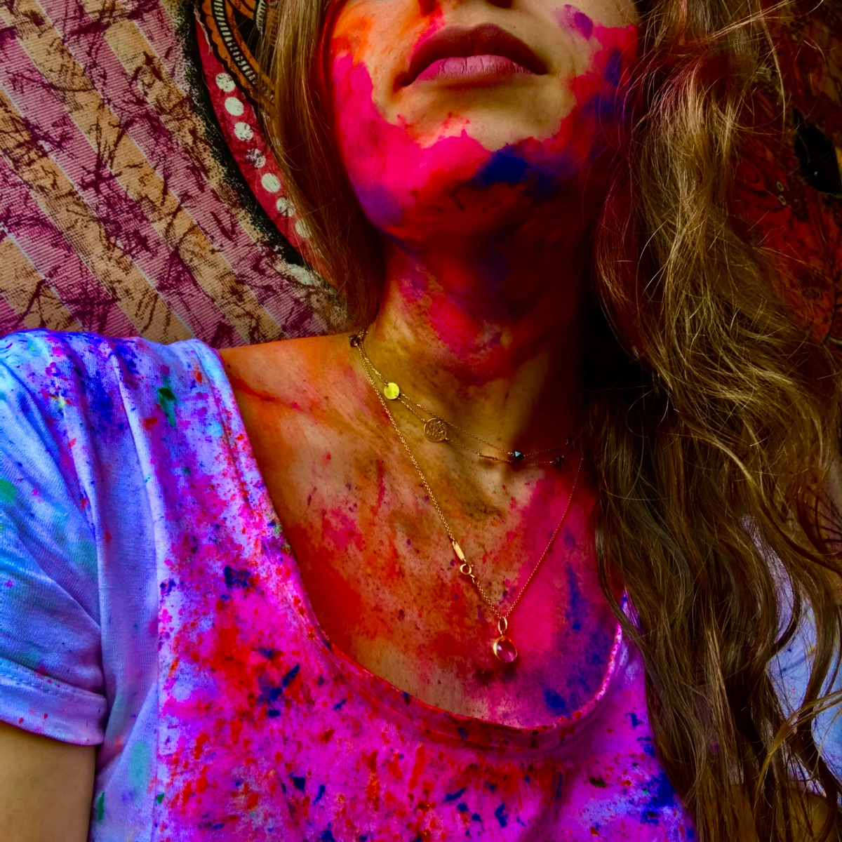 woman in colors