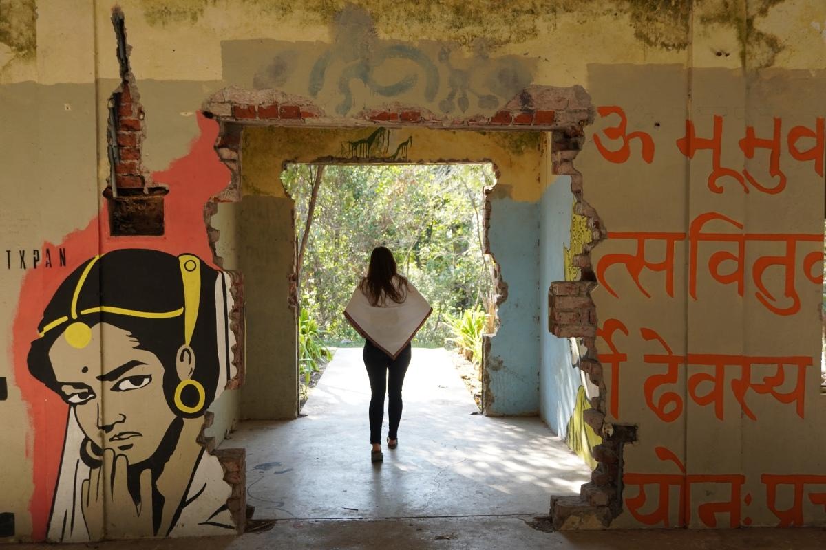 visual of walking in spaces